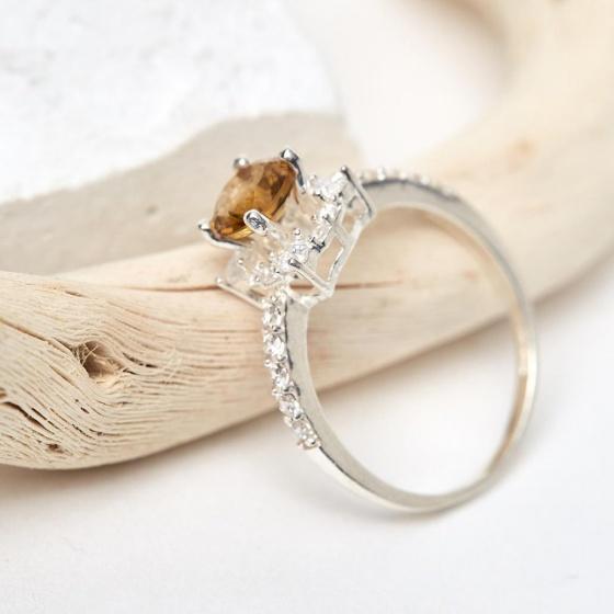 Nhẫn đá Citrine thạch anh vàng mệnh thổ, kim - Ngọc Quý Gemstones