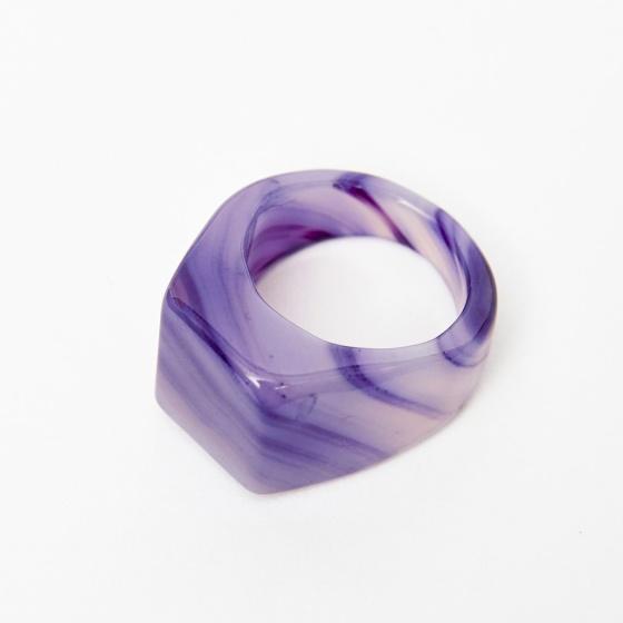 Nhẫn nam đá mã não tím size 20 mệnh hỏa thổ - Ngọc Quý Gemstones