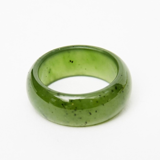Nhẫn nam ngọc bích size 21 mệnh mộc hỏa - Ngọc Quý Gemstones