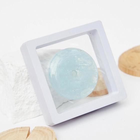 Mặt đồng điếu đá aquamarine 43mm mệnh thủy mộc - Ngọc Quý Gemstones