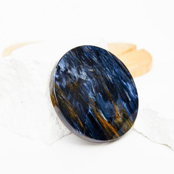 Mặt đá đá giông bão xanh lớn 59mm mệnh thủy mộc - Ngọc Qúy Gemstones