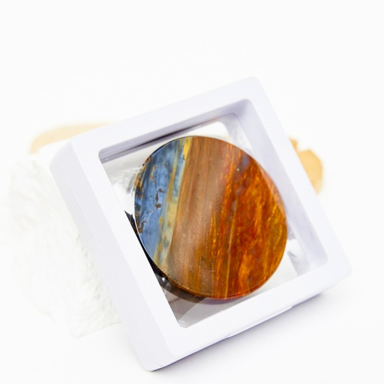 Mặt đá đá pietersite multi color 51.5mm - Ngọc Quý Gemstones