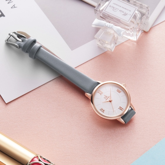 (Siêu sale) Đồng hồ nữ chính hãng Shengke United Kingdom K8060L