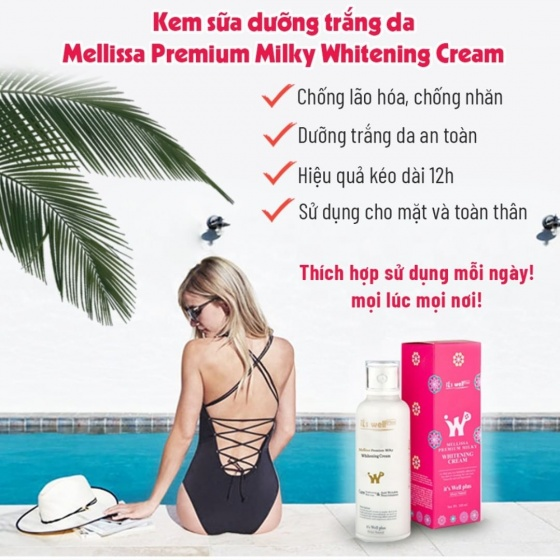 Kem sữa trắng da It's Well Plus - Mellissa Milky Whitening Cream 100ml
