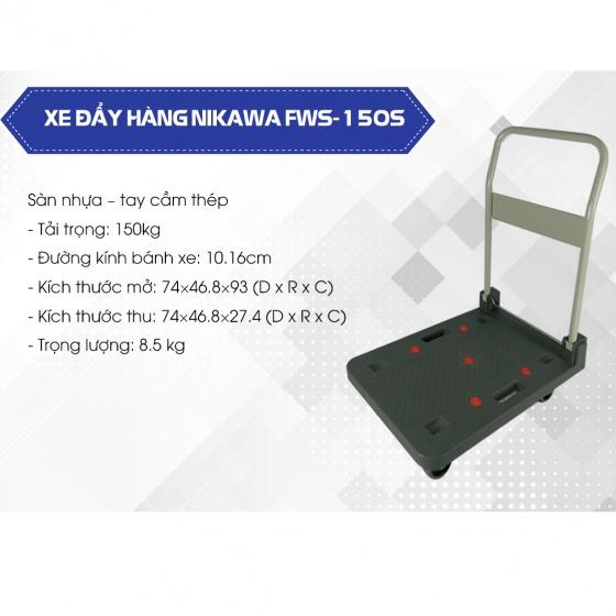 Xe đẩy hàng 4 bánh Nikawa FWS-150S tải trọng 150kg