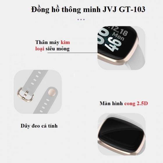 Đồng hồ thông minh theo dõi vận động JVJ GT-103 -  Full màn hình cảm ứng