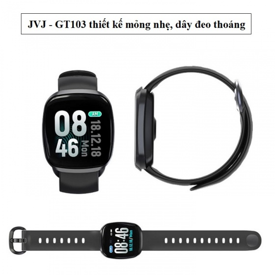 Đồng hồ thông minh JVJ GT-103 - full màn hình cảm ứng (vàng hồng)