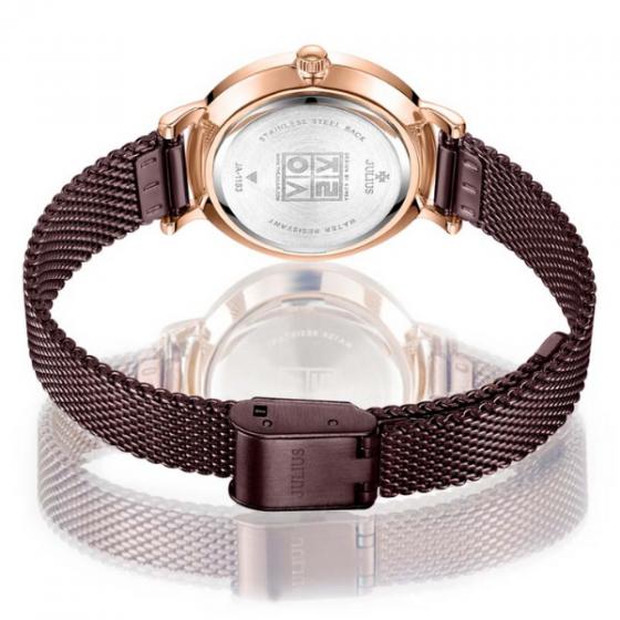 Đồng hồ nữ dây kim loại chính hãng Julius Hàn Quốc JA-1163D tím