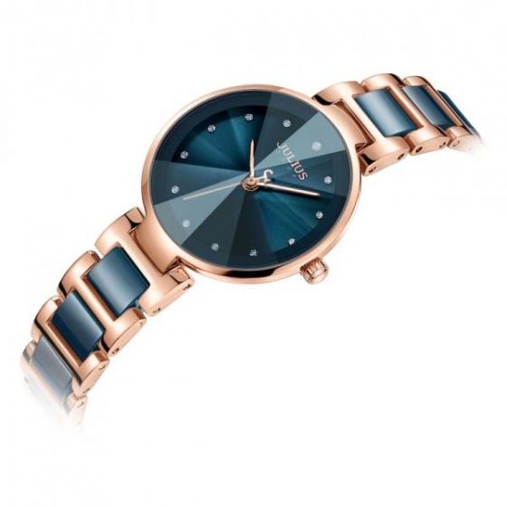 Đồng hồ nữ Julius Hàn Quốc chính hãng dây phối lăng kính tuyệt đẹp JA-1209C (xanh)