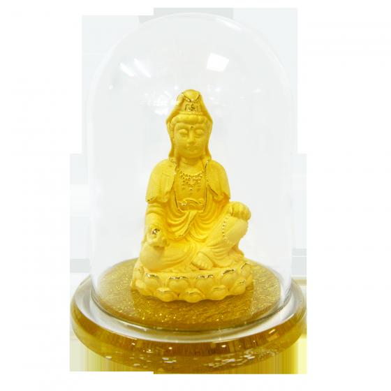 Quan âm nhiệm màu - quà tặng mỹ nghệ Kim Bảo Phúc phủ vàng 24K DOJI DJDE1060