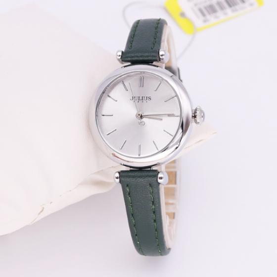 Đồng hồ nữ dây da Hàn Quốc JA-1018A xanh đậm