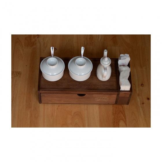 Nhatvywood hộp đựng đũa muỗng thìa bằng gỗ nhà hàng, quán ăn NV5321