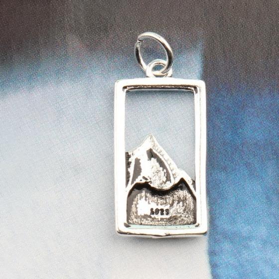 Charm bạc treo hình núi chữ nhật - Ngọc Quý Gemstones