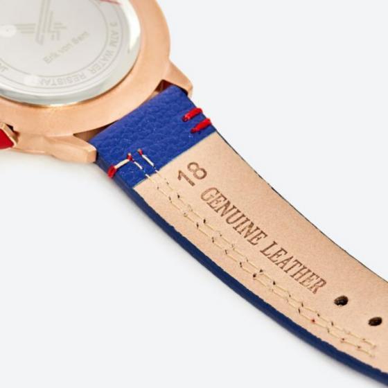 Đồng hồ thời trang unisex Erik von Sant 003.005.D mặt số họa tiết 3D dây da 38mm