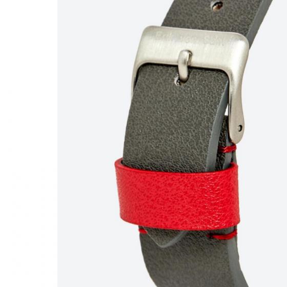 Đồng hồ thời trang unisex Erik von Sant 003.007.C mặt tròn kim phối ba màu dây da 38mm