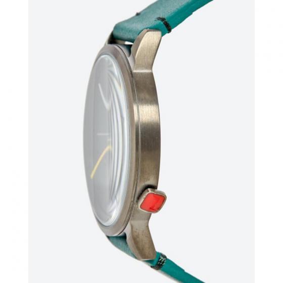 Đồng hồ thời trang unisex Erik von Sant 003.007.B màu xanh lá mặt tròn kim phối ba màu dây da 38mm