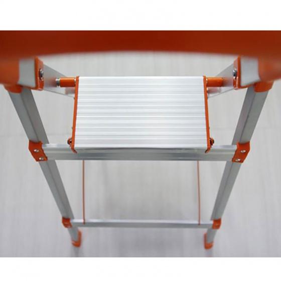 Thang nhôm ghế inox 3 bậc nhôm Ameca AMG-3IN tải trọng 150kg