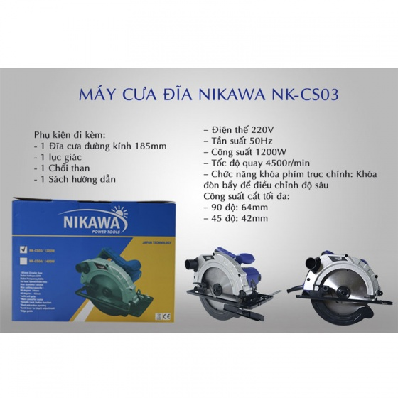Máy cưa đĩa Nikawa NK-CS03