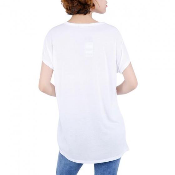 Áo phông nữ Hàn Quốc Orange Factory EQK9L346 màu trắng (size 95)
