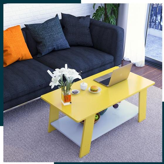 Bàn trà sofa bàn trà cafe hiện đại 2 tầng đa năng