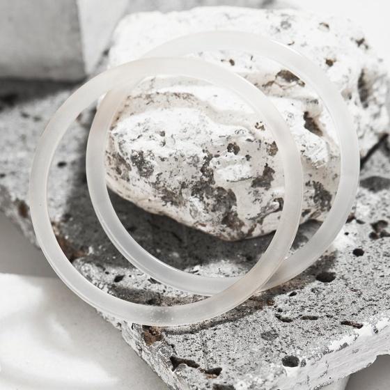 Combo 2 vòng tay đá mã não trắng mảnh mệnh kim thủy - Ngọc Quý Gemstones