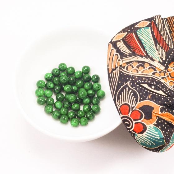 Combo 5 viên đá cẩm thạch sơn thủy 8mm - Ngọc Quý Gemstones