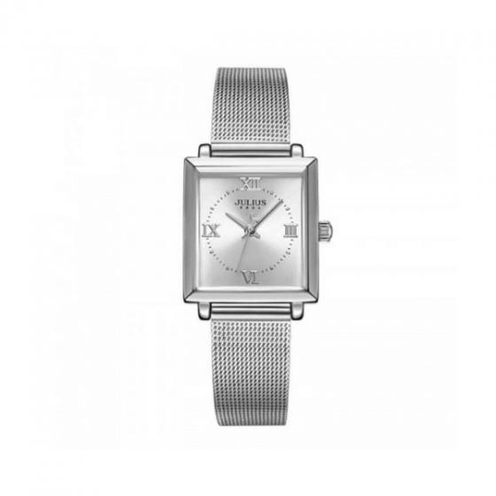 Đồng hồ nữ Julius Hàn Quốc JA-1202A dây thép bạc
