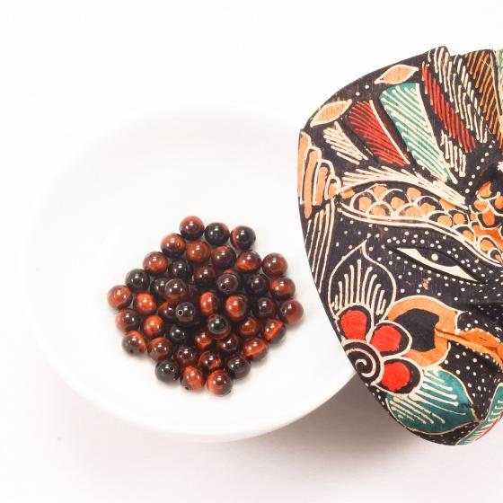 Đá mắt hổ nâu đỏ 8mm - Ngọc Quý Gemstones