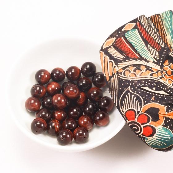 Combo 5 viên đá mắt hổ nâu đỏ 12mm - Ngọc Quý Gemstones