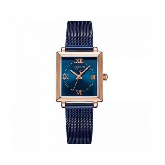 Đồng hồ nữ JA-1202C Julius Hàn Quốc dây thép xanh