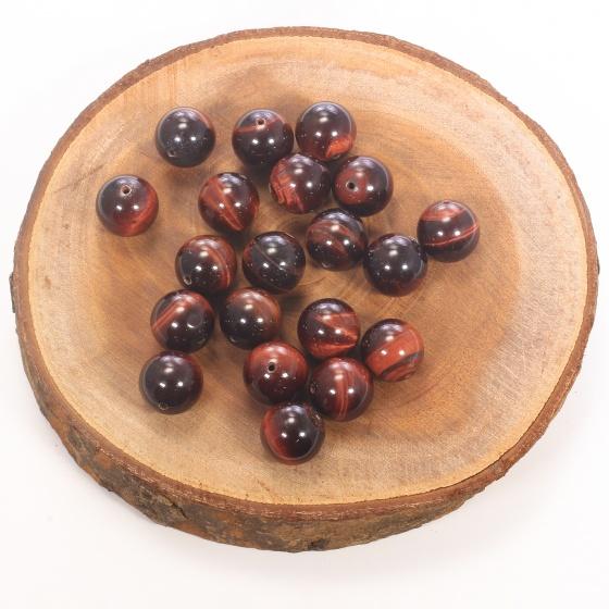 Combo 5 viên đá mắt hổ nâu đỏ 16mm - Ngọc Quý Gemstones
