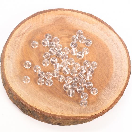 Combo 5 viên đá thạch anh trắng 8mm - Ngọc Quý Gemstones