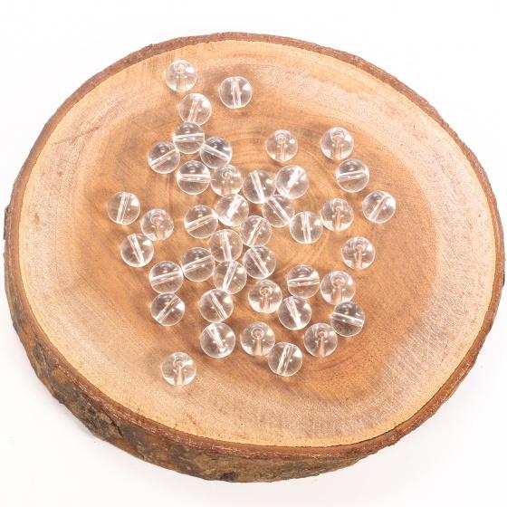 Combo 10 viên đá thạch anh trắng 10mm - Ngọc Quý Gemstones