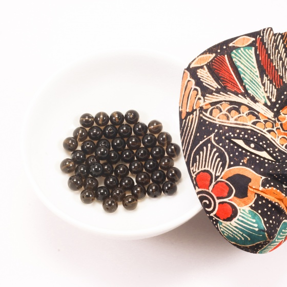Combo 5 viên đá thạch anh khói 8mm - Ngọc Quý Gemstones