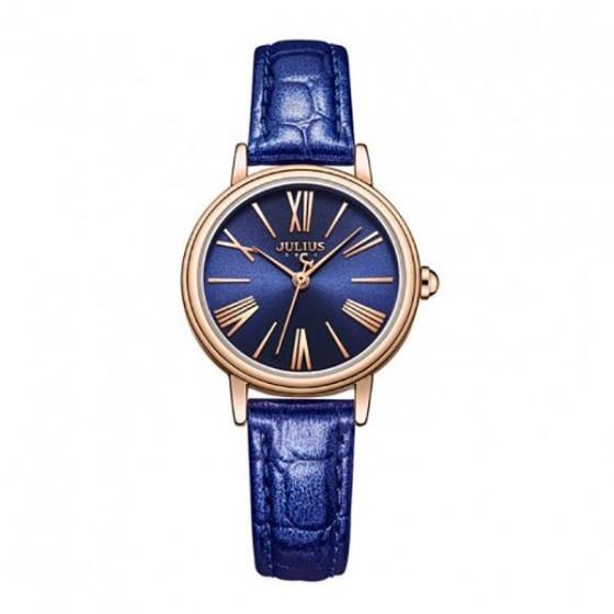 Đồng hồ nữ ja-1082e Julius Hàn Quốc dây da (xanh)