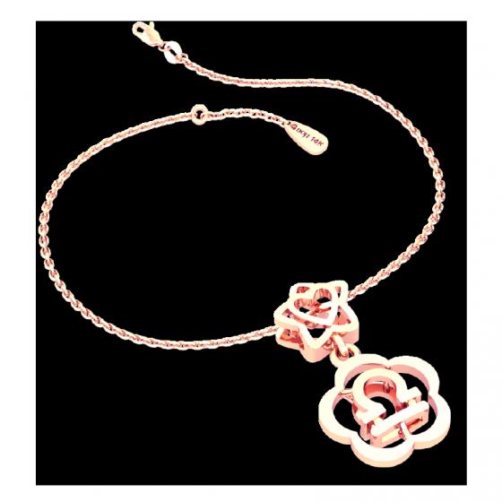 Mặt charm cung hoàng đạo Thiên Bình vàng hồng 14K DOJI 0120P-LAL355-PG (không bao gồm dây)