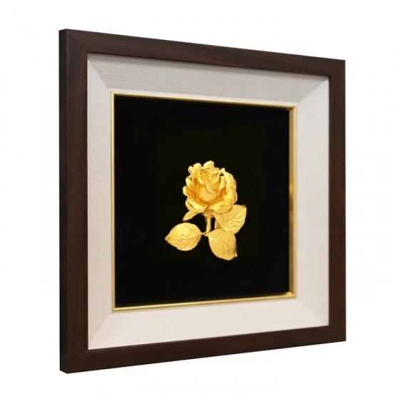 Tranh hoa hồng mạ vàng 24K