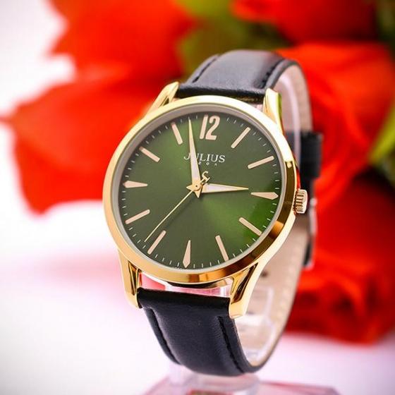 Đồng hồ nam Julius ja-983mb dây da ( đen)