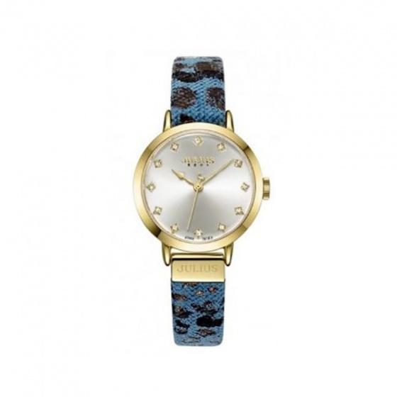 Đồng hồ nữ Julius Hàn Quốc dây da ja-976b ju1222 (xanh)