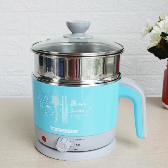 Ấm đun nước đa năng Tiross TS  1366  (nồi lẩu mini)