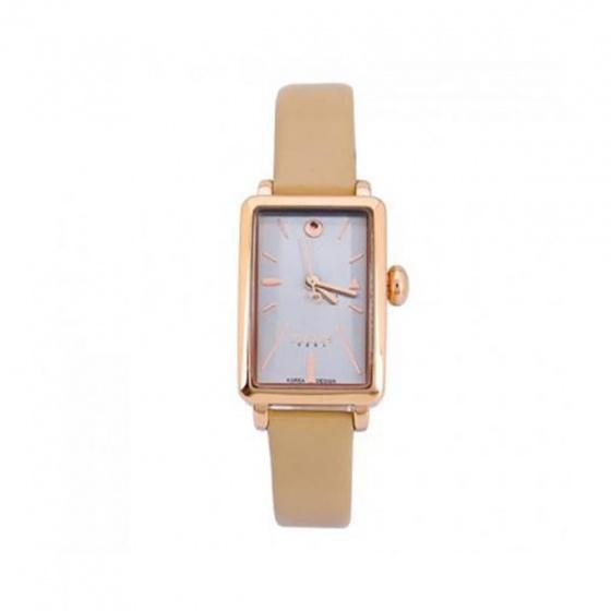 Đồng hồ nữ dây da Julius Hàn Quốc JA-941D JU1156 (viền vàng)