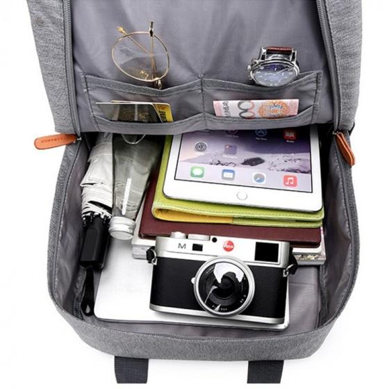 Bộ balo nam nữ có nhiều ngăn và túi đeo chéo ipad Praza - BL182DC095