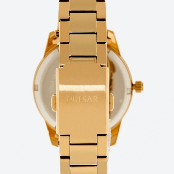 Đồng hồ nữ Pulsar thép không ghỉ mạ vàng - hàng nhập khẩu