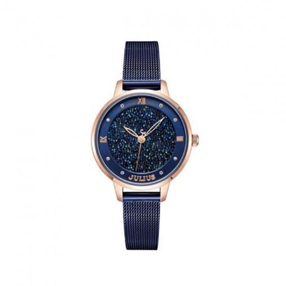 Đồng hồ nữ ja-1216d Julius Hàn Quốc dây thép (dây xanh)