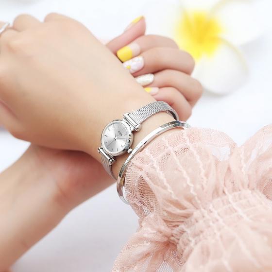 Đồng hồ nữ JS-001 Julius Star Hàn Quốc dây thép