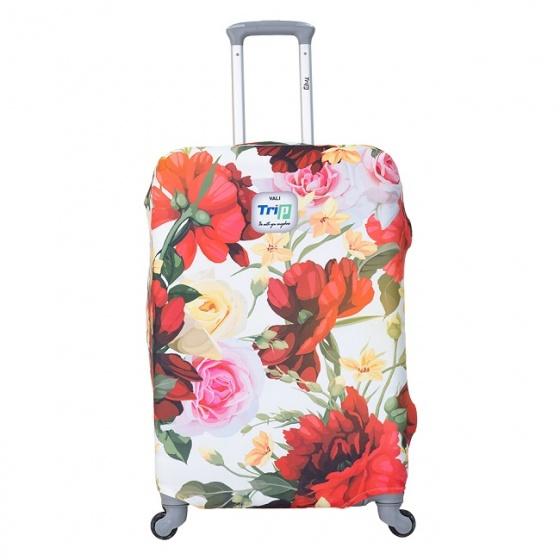 Áo trùm vali thun 4 chiều Trip Red Spring size S
