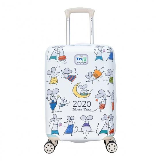 Túi bọc vali vải thun 4 chiều Trip Mouse size S
