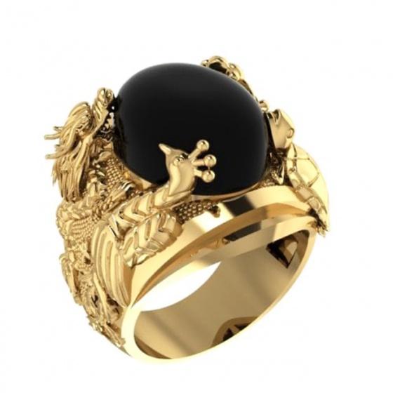 Nhẫn nam tứ linh mạ vàng 18k- RM01072