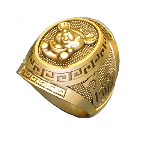 Nhẫn nam mạ vàng 18k RM01074
