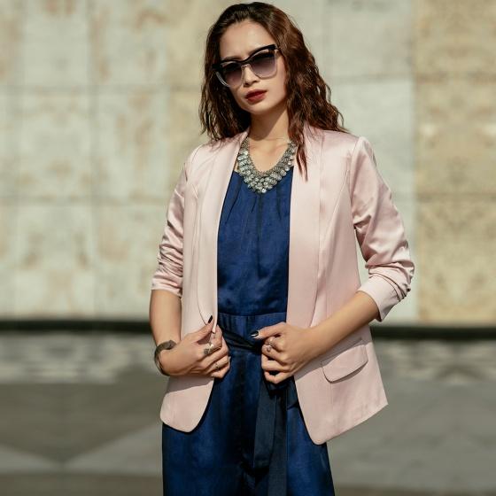 Áo khoác blazer Hity TOP117 (hồng anh đào sakura)